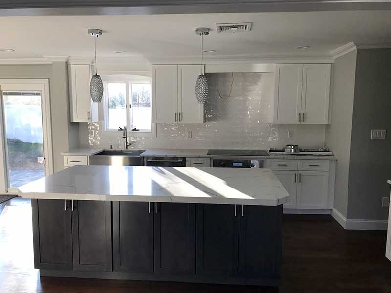 kitchen updated island granite