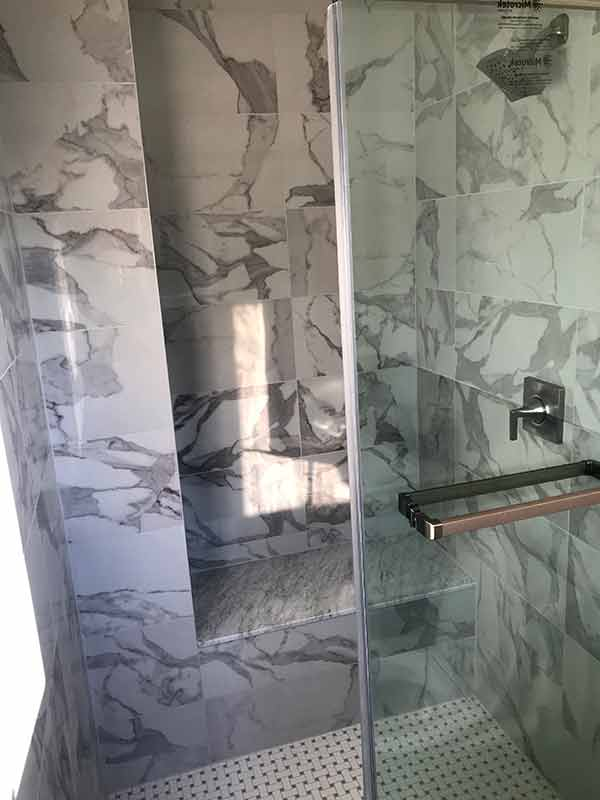 stand up shower tiles renovate